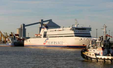SeaFrance ferry in Calais harbour