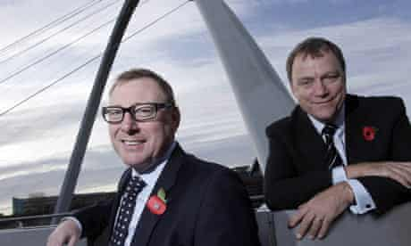 Benny Higgins, chief executive, and Andrew Higginson, chairman of Tesco Bank