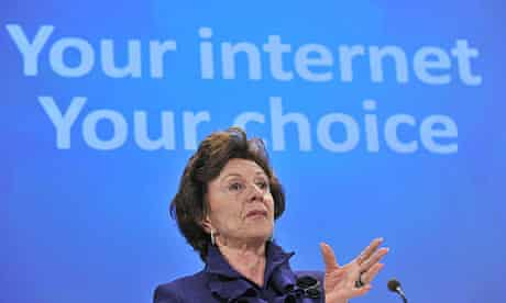 EU competition commissioner Neelie Kroes announces deal with Microsoft on the web browser market