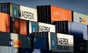 cargo containers at Felixstowe