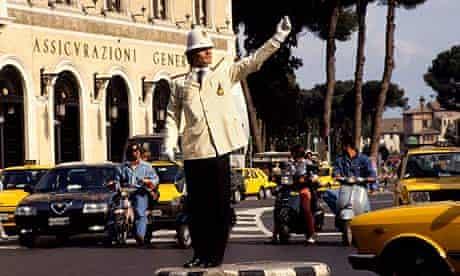 Rome traffic police