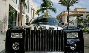 A Rolls-Royce in Rodeo Drive, Los Angeles.