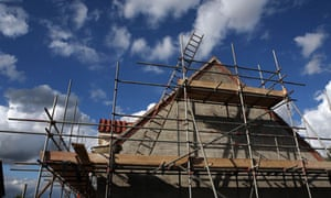 newly built house as it nears completion in Suffolk