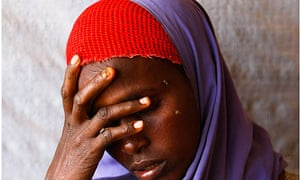 Somali woman at a clinic run by Medecins Sans Frontieres