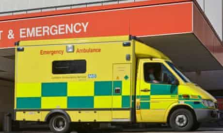 Ambulance parked at hospital