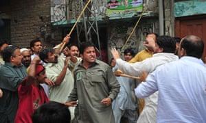 Pakistani political party activists clas