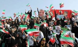 Iranian presidential elections campaign rally