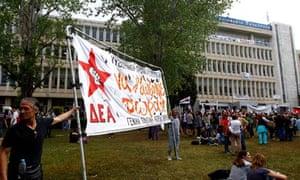Greek broadcaster goes online after shutdown