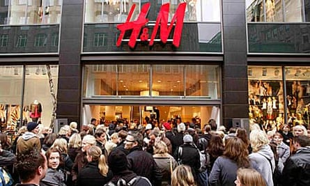 H&M shop in Hamburg
