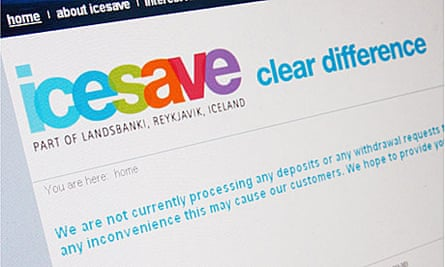 Landisbankinn offered deposit based Icesave account in the UK