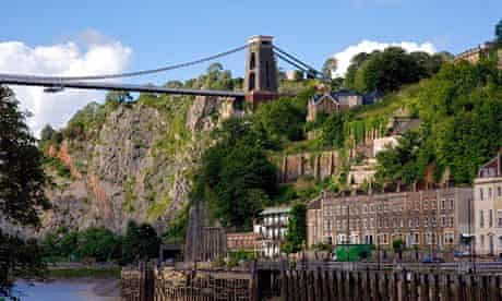 Clifton suspension bridge in Bristol.