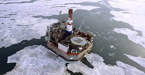 Oil rig near Sakhalin Island