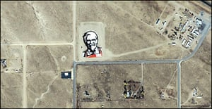 KFC logo from space