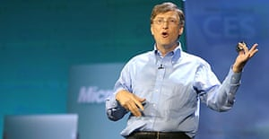 Bill Gates speaks at the Consumer Electronics Show in Las Vegas. Photograph: Robyn Beck/AFP/Getty