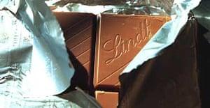 Lindt chocolate. Photograph: Martin Godwin
