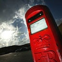A sealed Royal Mail postbox.