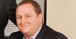 Billionaire businessman Mike Ashley. Photoraph: PA.