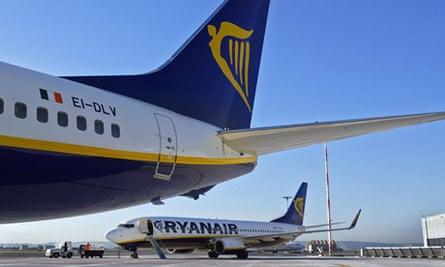 Ryanair planes at Marseille-Marignane airport