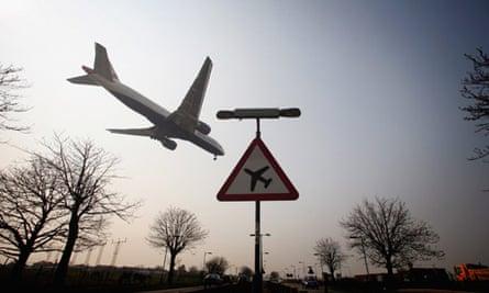 A flight arrives at Heathrow