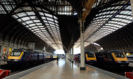 First Great Western trains at Paddington station