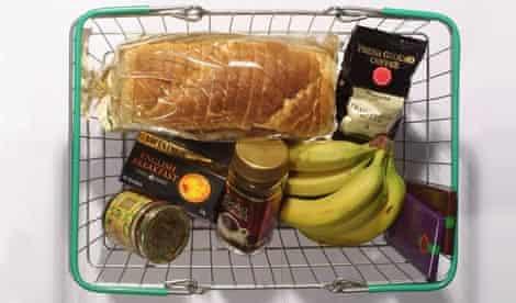 Supermarket food basket