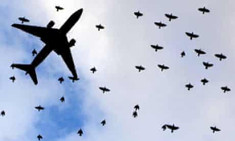 Plane landing at a UK airport