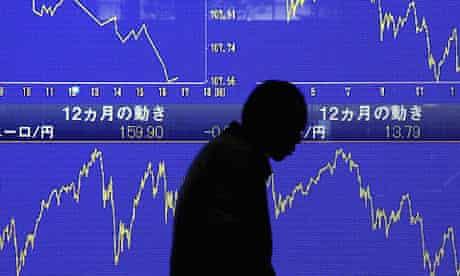 Asian stock markets. Photograph: Franck Robichon/EPA