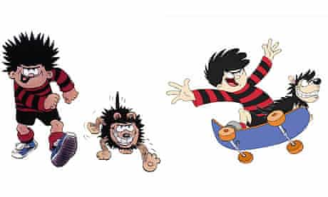 Dennis the Menace. Old (left) and new-look (right)