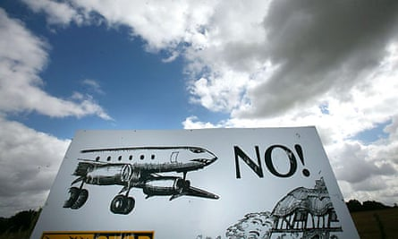 Stansted second runway protest