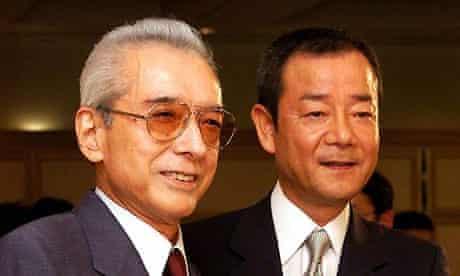 Nintendo's Hiroshi Yamauchi (left). Photograph: Shizuo Kambayashi/AP