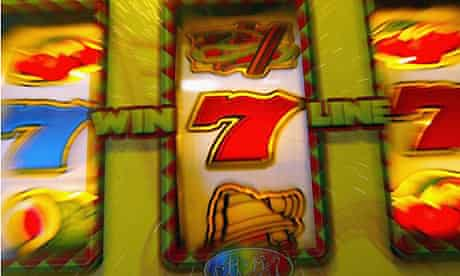 Slot machines in an amusement arcade