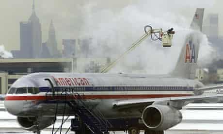American Airlines plane at LaGuardia airport, New York