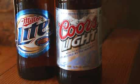 Miller and Coors beers. Photograph: Scott Olson/Getty Images