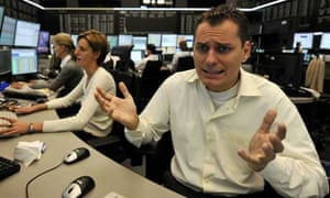 High anxiety at the Frankfurt stock exchange