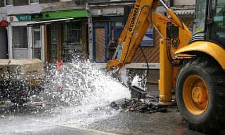 A JCB digger in action