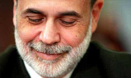 Federal Reserve chairman Ben Bernanke. Photograph: Win McNamee