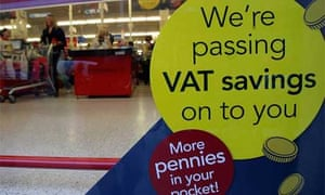 Shoppers are offered reduced VAT rates at a supermarket in Bristol