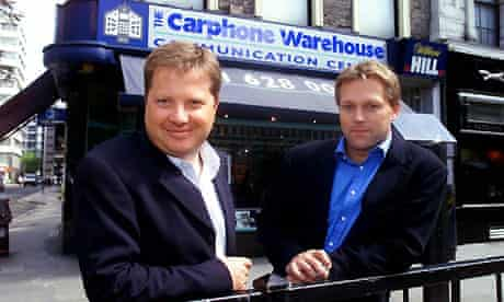 Carphone Warehouse founders Charles Dunstone (left) and David Ross. Photograph: Martin Argles