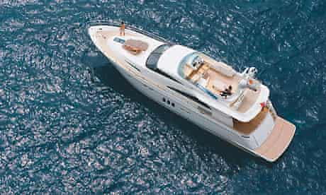 A yacht by Fairline Boats