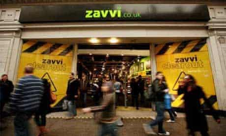 The Zavvi store in Oxford Street, London