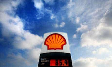 A Shell petrol station