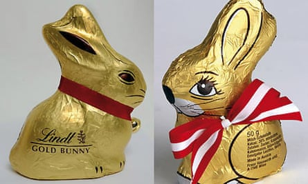 Lindt and Hauswirth chocolate rabbits