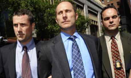 Former Bear Stearns hedge fund manager Matthew Tannin in handcuffs