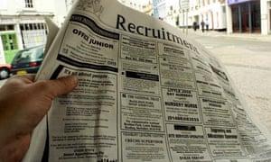 Unemployment jobs ad
