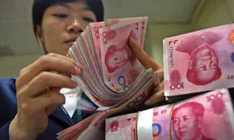 Yuan (renminbi) notes - Chinese currency
