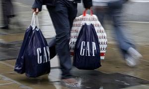 High street shopper with Gap bags