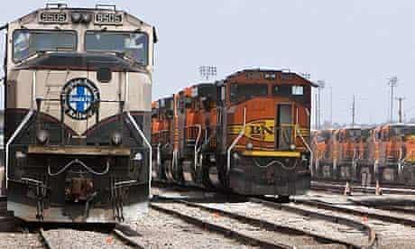 Burlington Northern Santa Fe trains