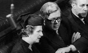 Margaret Thatcher and Geoffrey Howe 1981