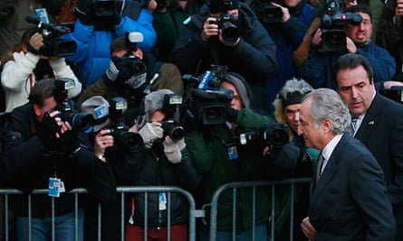 Bernard Madoff enters court on 12 March 2009 in New York. Photograph: Mario Tama/Getty Images