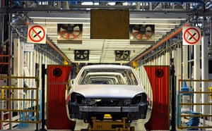 Astra cars being assembled at the General Motors's owned Vauxhall plant in Ellesmere Port, Cheshire